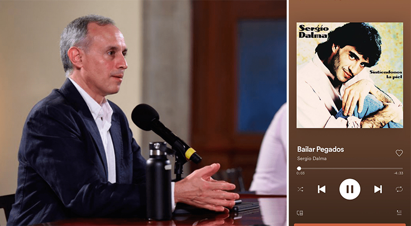 """Gatell pide a Spotify quitar la canción """"Bailar Pegados"""" para reducir tercera ola de  contagios."""